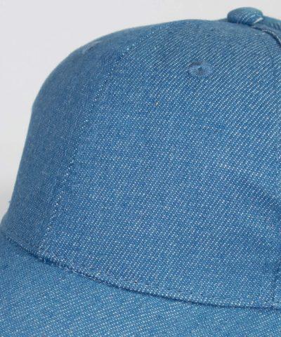 Лятна шапка с козирка в дънков цвят