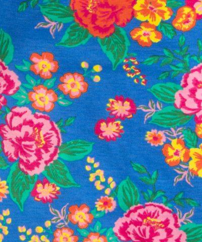 ромпър в син цвят с цветя за бебе момиче