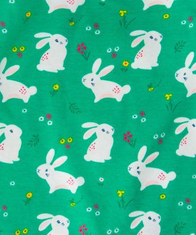 ромпър в зелен цвят със зайчета за бебе момиче