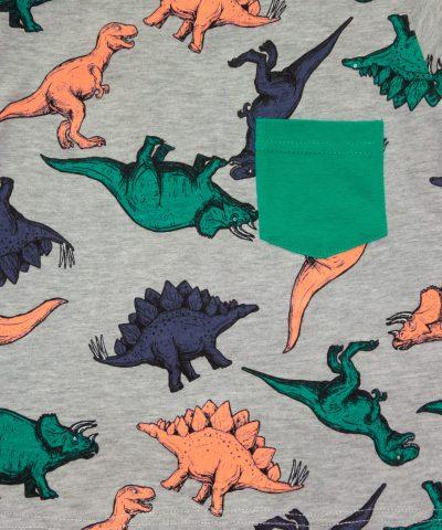 Лятна детска пижама с динозаври за момчета