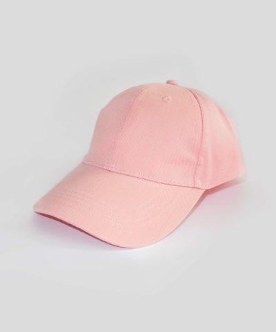 Шапка с козирка в розов цвят