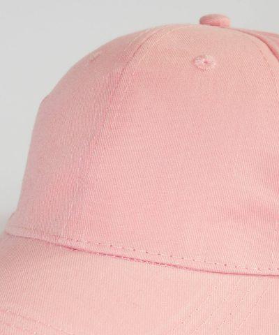 Детска лятна шапка с козирка в розов цвят