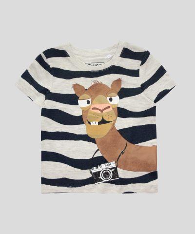 Тениска с камила от био памук