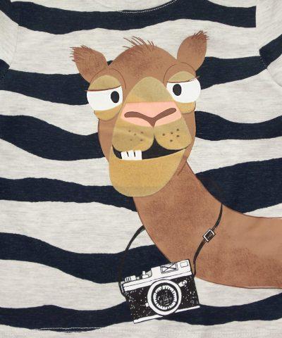 Детска тениска с камила от органичен памук