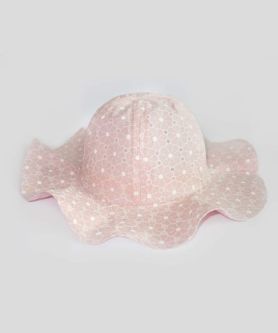 Розова лятна шапка за слънце
