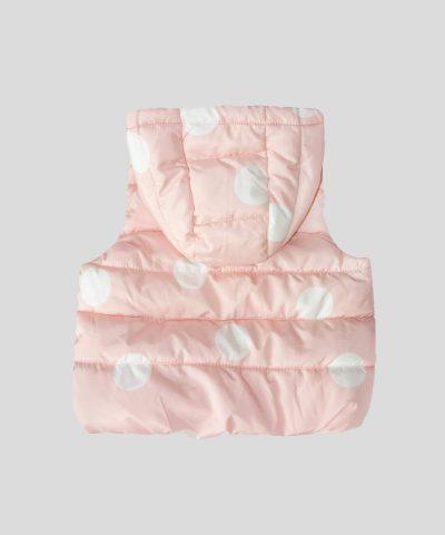 елек с качулка в розов цвят за бебета и деца