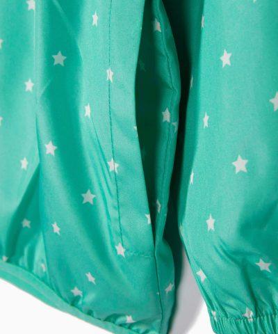 Детско тънко и водоустойчиво яке за вятър в цвят мента