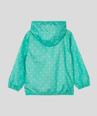 Тънко яке за вятър в цвят мента за момичета от 2 до 7г.
