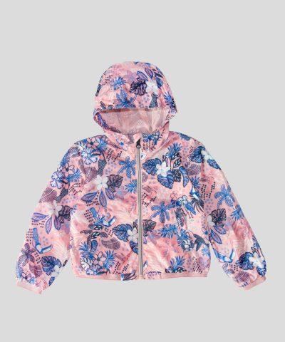 тънко водоустойчиво яке в розов цвят