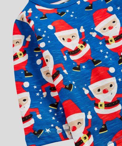 Коледна блуза в син цвят за деца