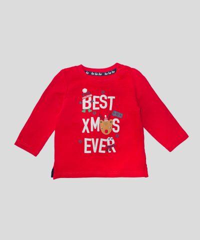 бебешка Коледна блуза от био памук