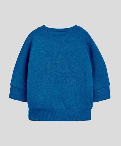 Коледна ватирана блуза в син цвят за бебе или дете