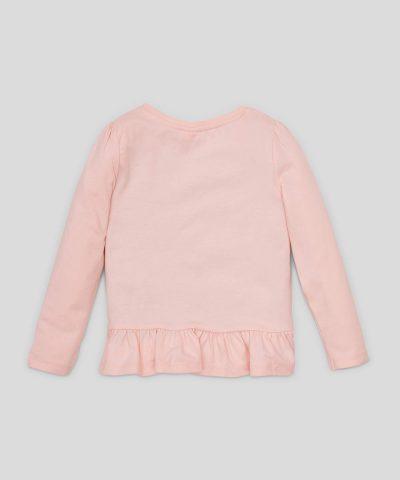 3D блуза Disney Princess от био памук с дълъг ръкав за момиче