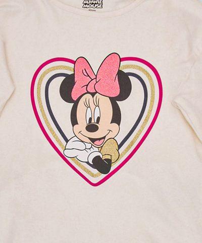 Детска блуза Мини Маус от био памук с дълъг ръкав
