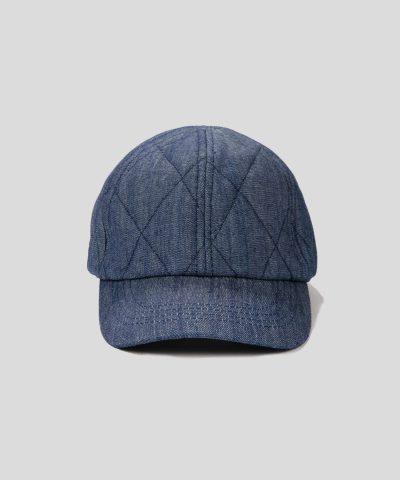 Зимна дънкова шапка с козирка