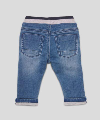 Бебешки и детски еластични дънки в син цвят