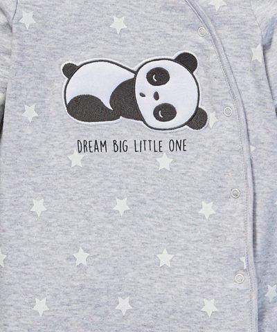 Бебешки гащеризон с панда от био памук