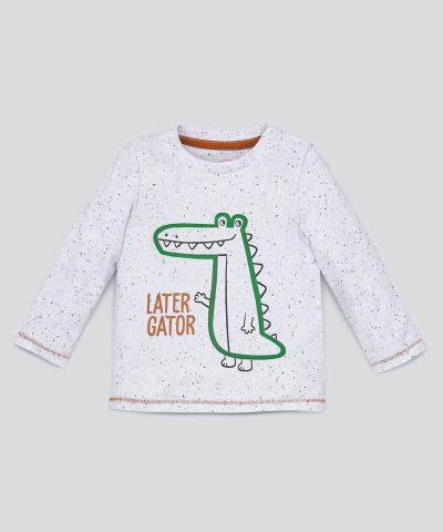 Интерактивна блуза с крокодил
