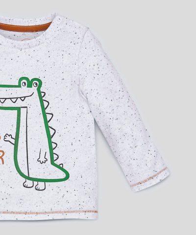 Интерактивна блуза с крокодил за бебе момче