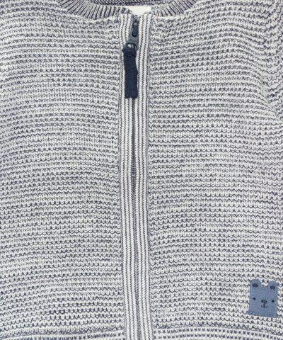 памучна жилетка с цип с мече за момчета