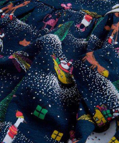 Коледна рокля в тъмносин цвят за бебе или дете момиче