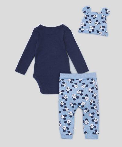 Бебешки комплект 3 части Мики Маус от био памук