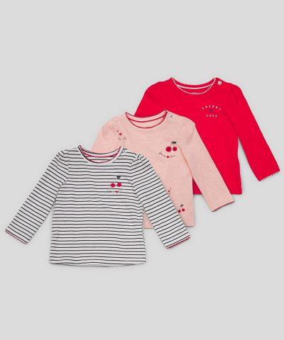Комплект блузи с черешки от био памук