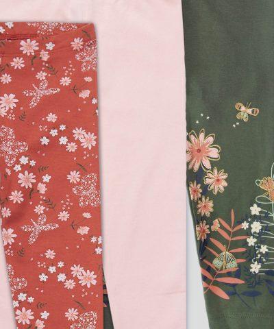 Комплект клинчета от био памук за момиче