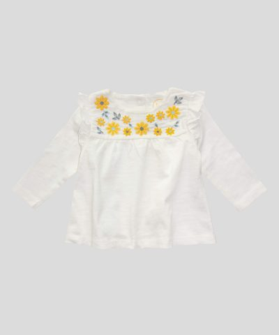 Бебешки и детски комплект с цветчета от био памук