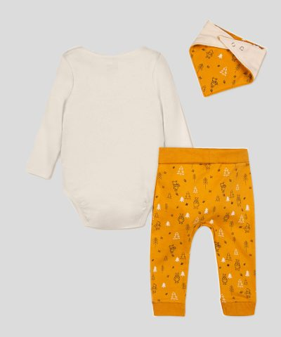 бебешки комплект с Мечо пух от био памук