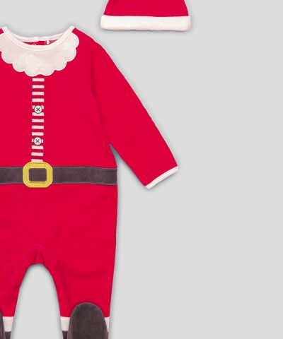 бебешки плюшен Коледен комплект от био памук