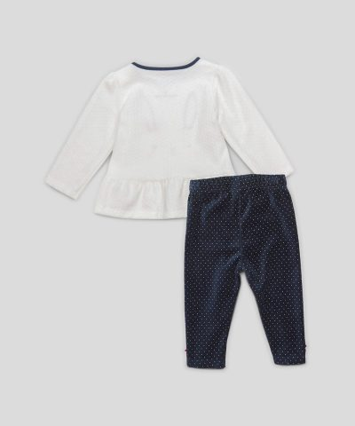 Детски плюшен комплект със зайче от био памук