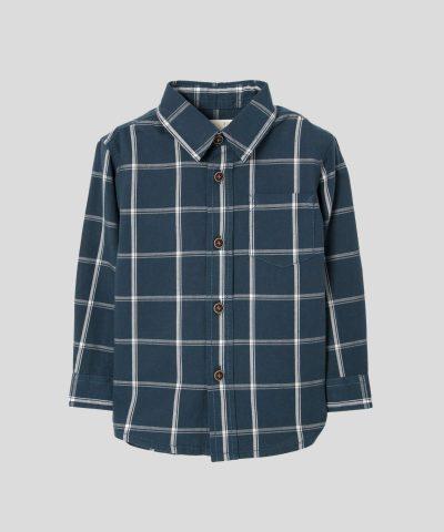 риза каре в тъмносин цвят