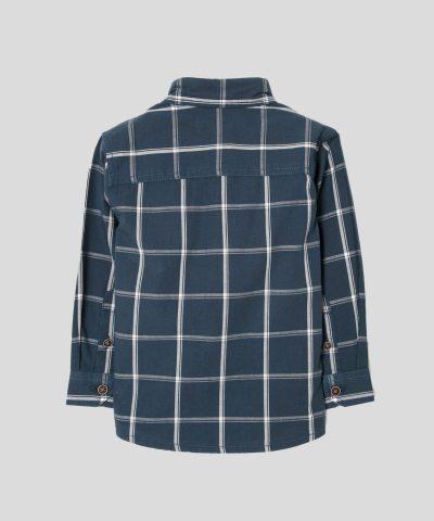 риза каре в тъмносин цвят за момче