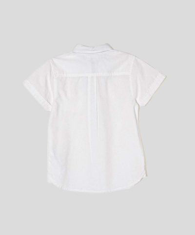 Детска риза в бял цвят с папийонка