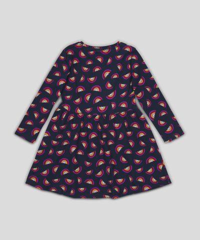 Детска рокля дъга от био памук
