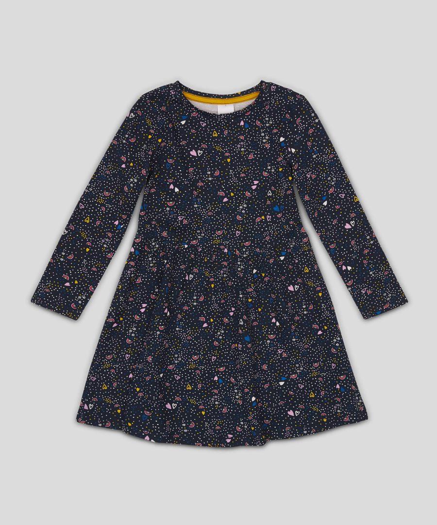 рокля с цветен принт от био памук