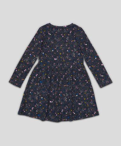 Детска рокля с цветен принт от био памук