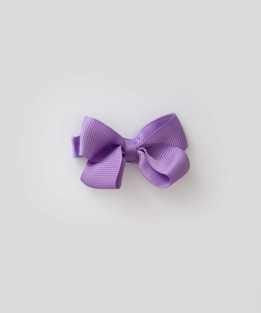 бебешка и детска шнола за коса в лилав цвят с панделка