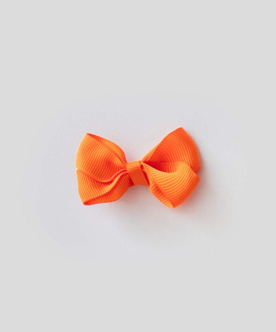 бебешка и детска шнола за коса в оранжев цвят с панделка