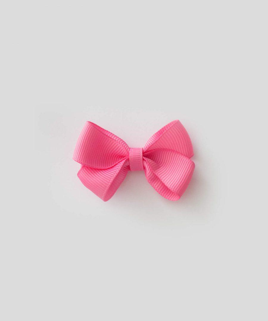 бебешка и детска шнола за коса в розов цвят с панделка