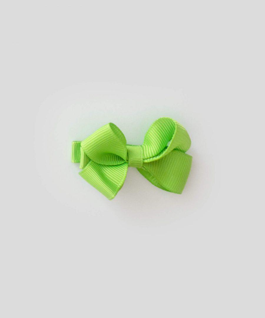 бебешка и детска шнола за коса в зелен цвят с панделка