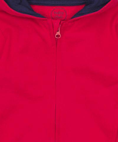 суитчър в червен цвят от био памук за момчета