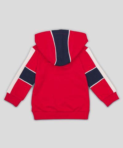 Бебешки и детски суитчър в червен цвят от био памук