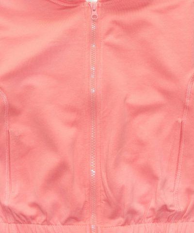 суитчер в цвят праскова от био памук за момиче