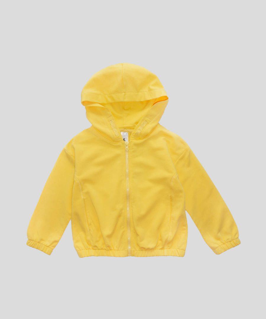 суитчер в жълт цвят от био памук