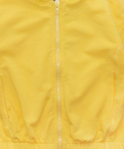 суитчер в жълт цвят от био памук за момиче