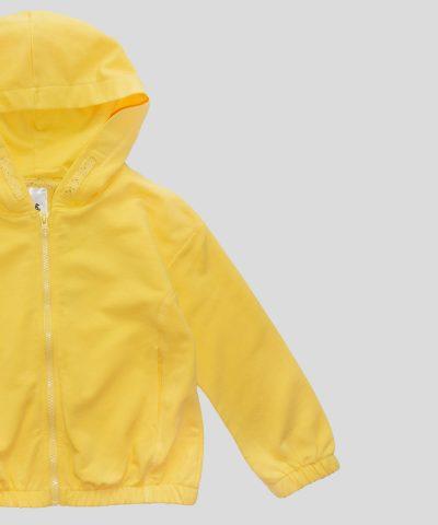 Детски суитчер в жълт цвят от био памук