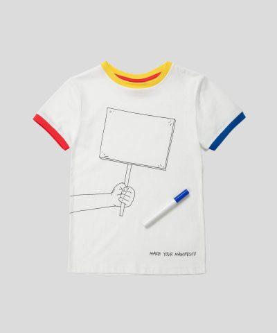 тениска за рисуване с маркер, който се изпира