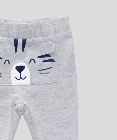 Бебешки и детски ватиран панталон с тигърче за момче